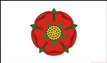 LANCASHIRE (OLD / WHITE ) - 8 X 5 FLAG